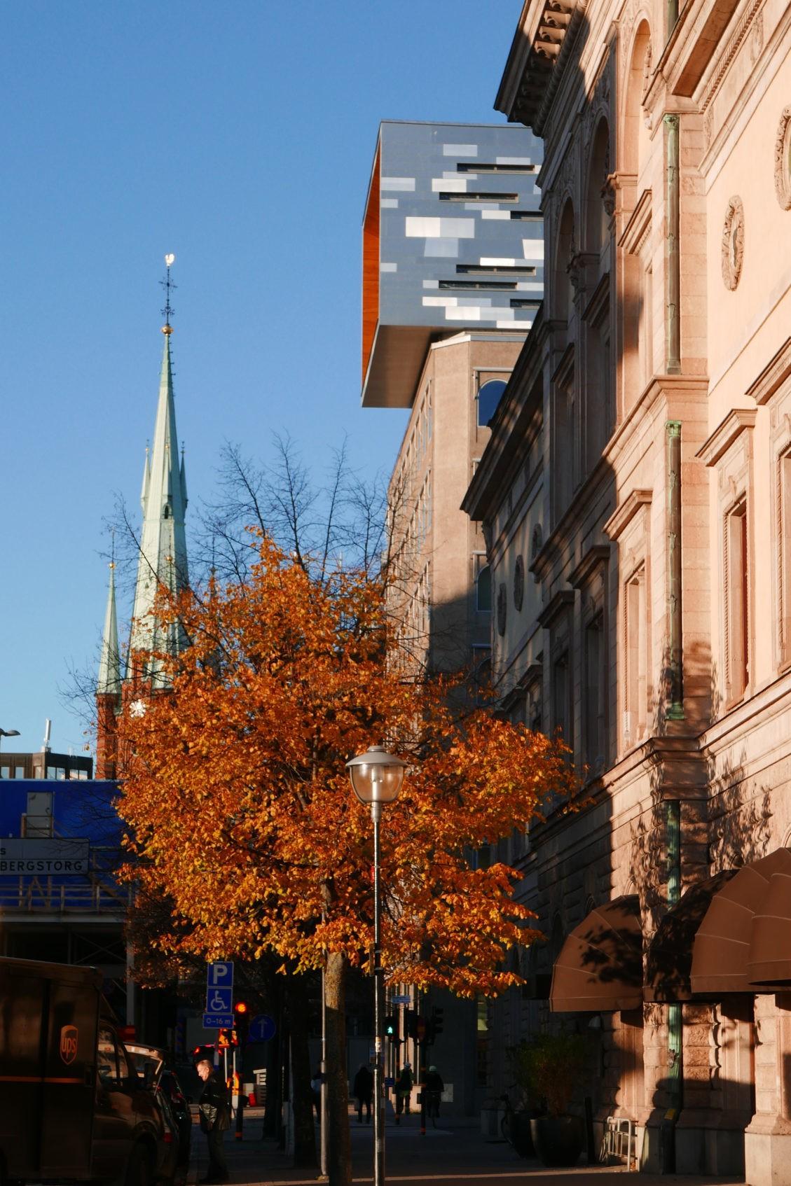 Fotografiet visar påbyggnaden på regeringskvarteret