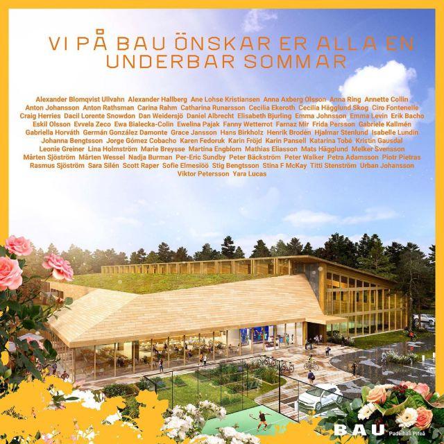 BAU har fått ett nytt, roligt uppdrag för en padelhall i Piteå.  För Gretabo har vi ritat en idrottshall i form av en massivträkonstruktion med inbjudande glasade ytor. Sporten har på kort tid blivit väldigt populär och efterfrågan på banor är stor. I Piteå byggs en inomhusanläggning av stor kvalitet där verksamheten kan aktivera miljön vid Piteå universitet på fler sätt, tex med ett inbjudande café och en lounge – här blir hallen ett alternativ för sporten året om.  Men först sol och ledighet - ha en underbar sommar! #bau #byrånförarkitekturochurbanism #padel #piteå